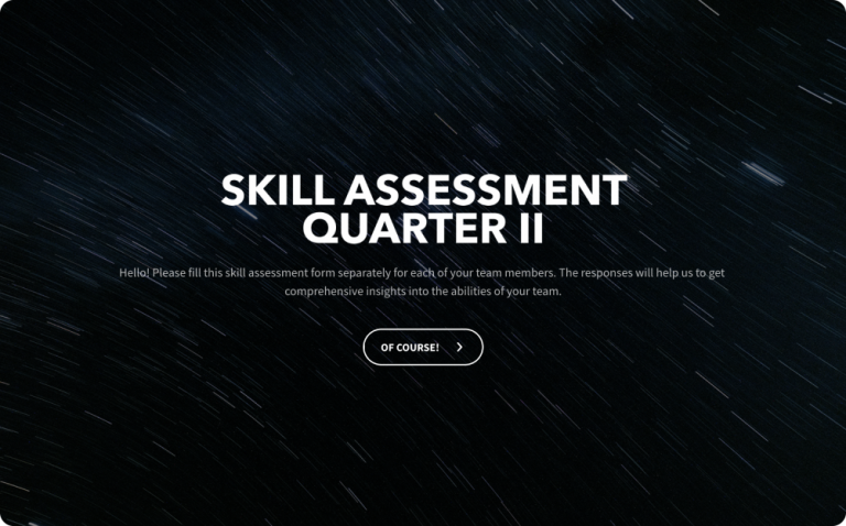 employee skill assessment survey template
