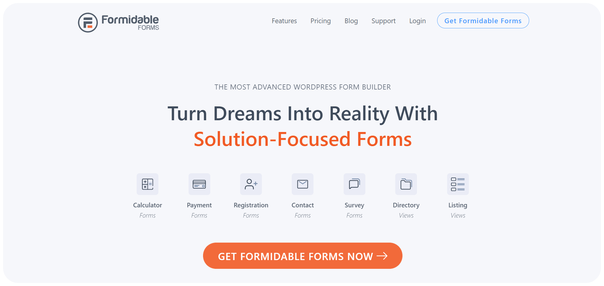 Formidable forms - WordPress contact form
