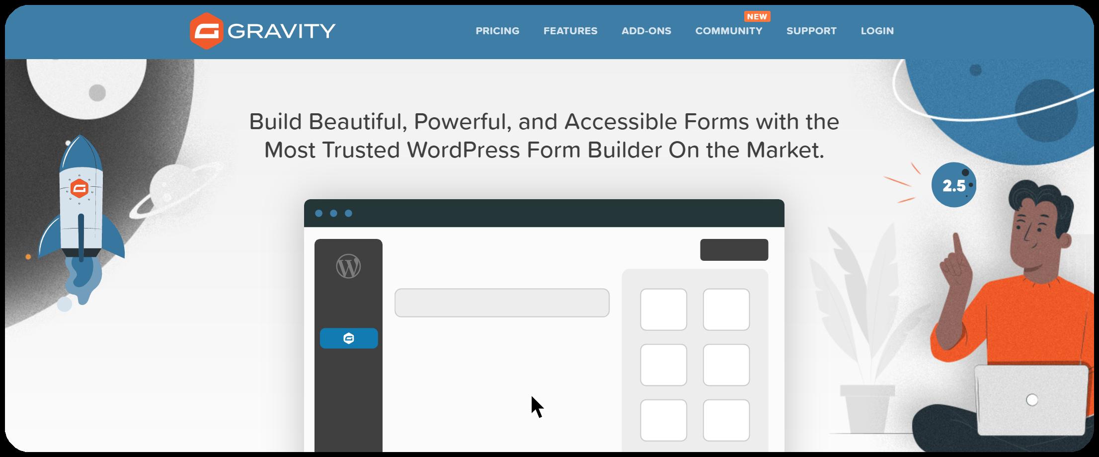 Gravity forms - WordPress form creator