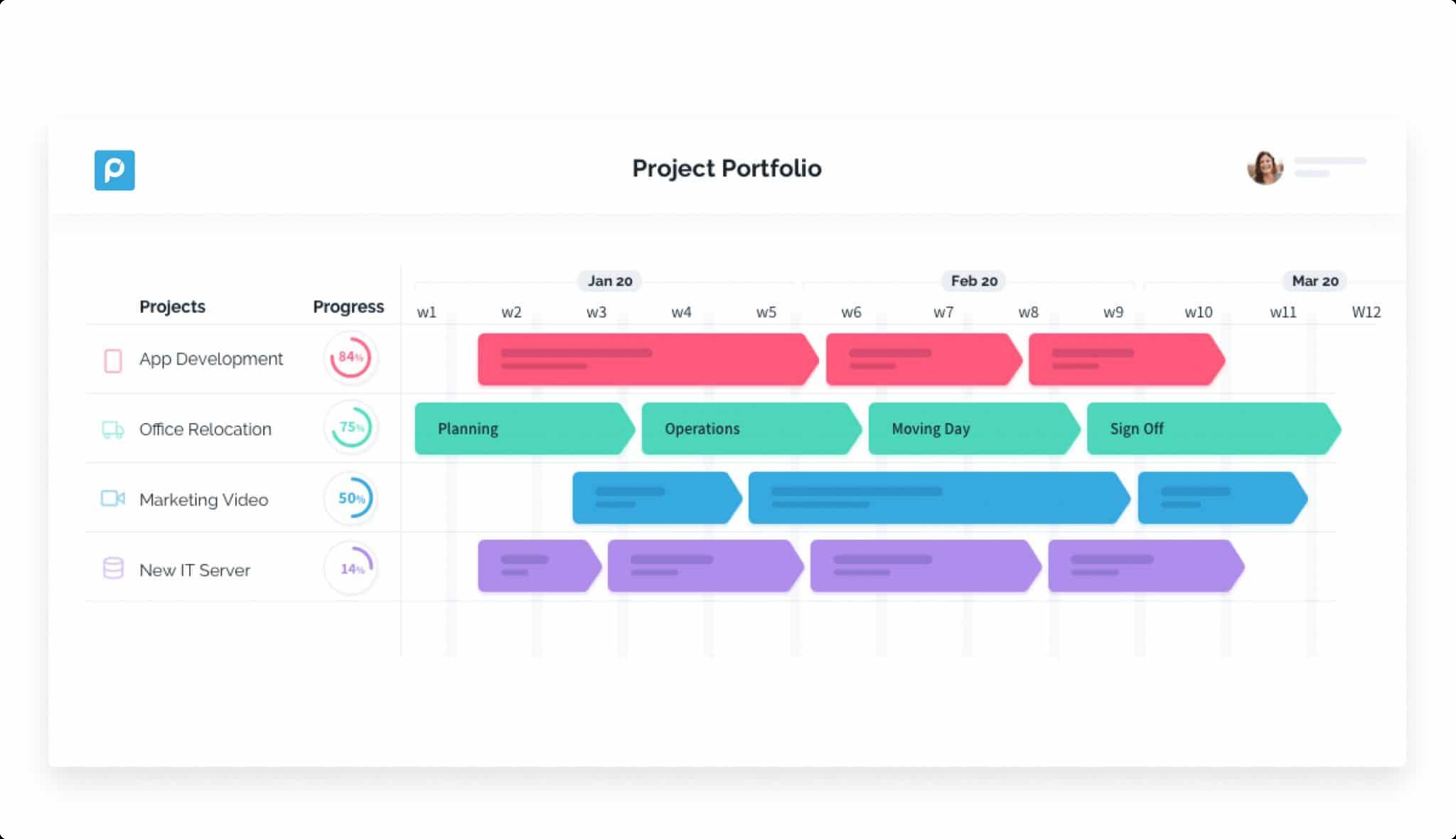 project portfolio tool - Proggio