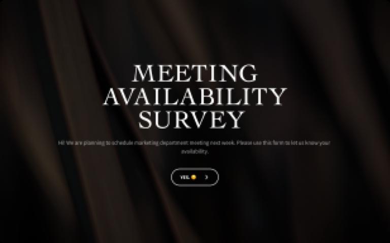 meeting availability survey template