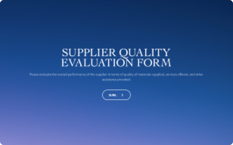 supplier quality evaluation form template