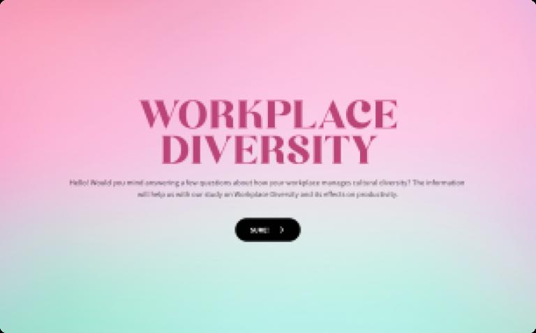 workplace diversity questionnaire