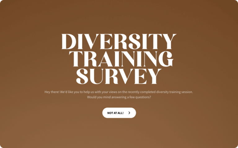 Diversity Training Survey Template