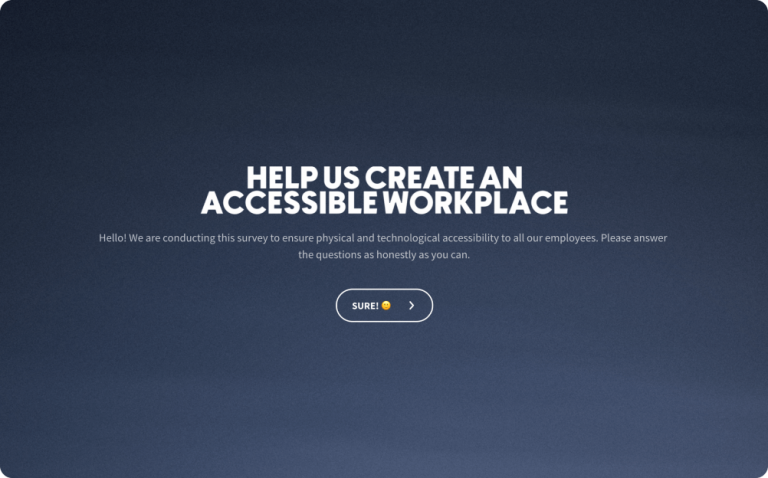 Workplace Accessibility Survey Template