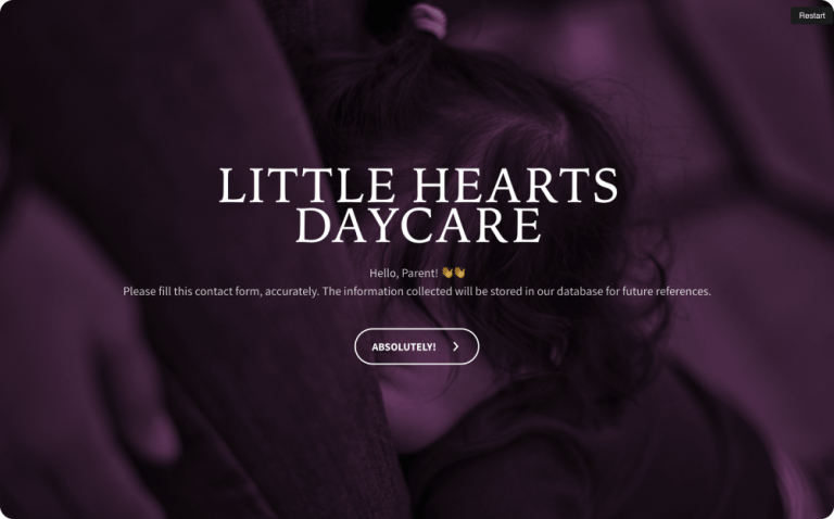 Day Care Emergency Contact Form Template